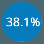 38.1percent
